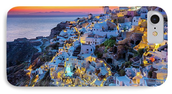 Santorini Sunset IPhone Case by Inge Johnsson