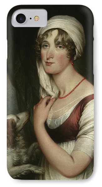 Sarah Trumbull With A Spaniel IPhone Case by John Trumbull