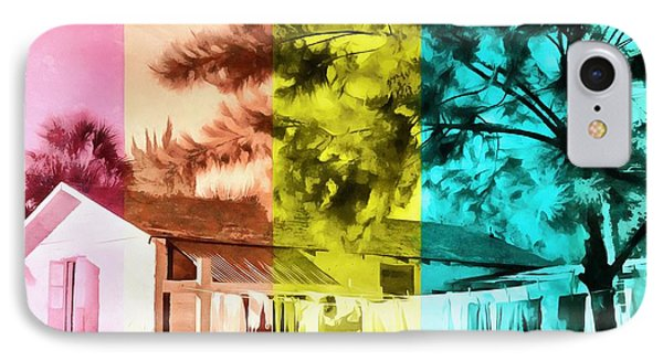 IPhone Case featuring the painting Sarasota Series Wash Day by Edward Fielding