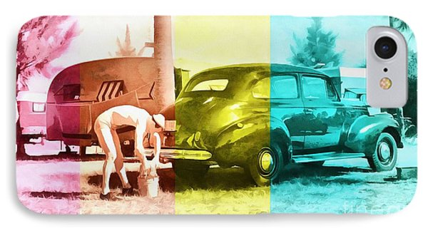 IPhone Case featuring the painting Sarasota Series Wash The Car by Edward Fielding
