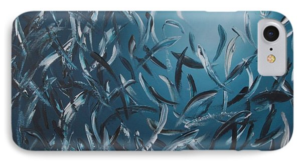 Sardines Ball Phone Case by Lilu Lilu