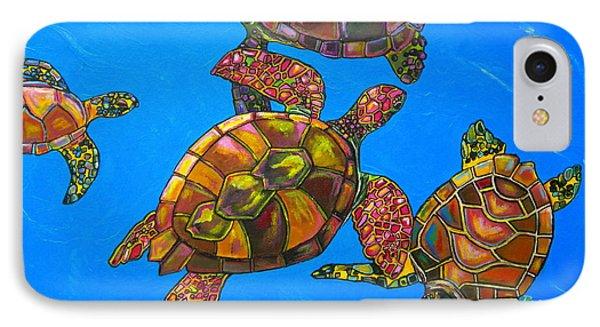 Sarrah's Sea Turtles Phone Case by Patti Schermerhorn