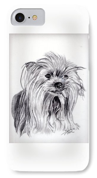 Yorkie Lady Phone Case by Beverly Johnson