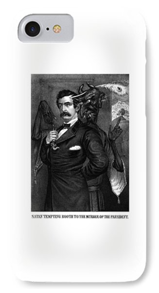 Satan Tempting John Wilkes Booth Phone Case by War Is Hell Store