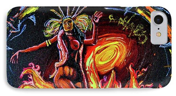 IPhone Case featuring the painting Satanico Pandemonium by eVol i