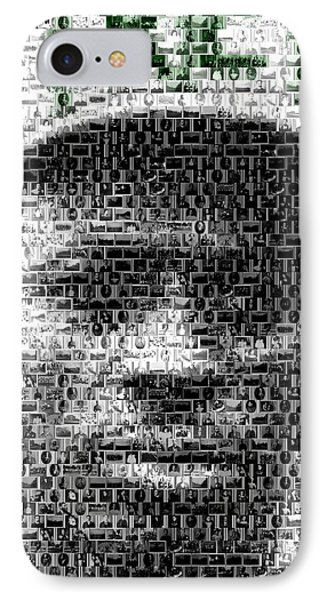 Satchel Paige Kc Monarchs African American Mosaic Phone Case by Paul Van Scott