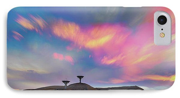 IPhone Case featuring the photograph Satellite Dishes Quiet Communications To The Skies by James BO Insogna