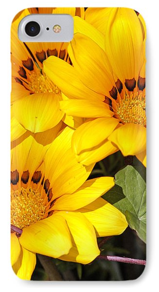 IPhone Case featuring the photograph Satin Yellow Florals by E Faithe Lester