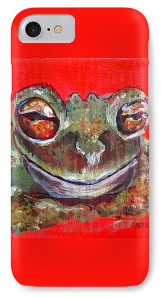 Satisfied Froggy  IPhone Case by Barbara O'Toole
