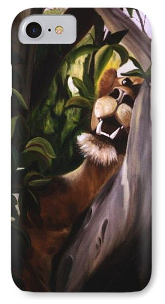 IPhone Case featuring the painting Satisfied by Renate Nadi Wesley