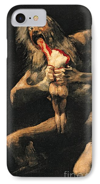 Saturn Devouring One Of His Children  IPhone Case by Goya