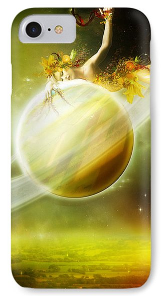 Saturn IPhone Case by Mary Hood
