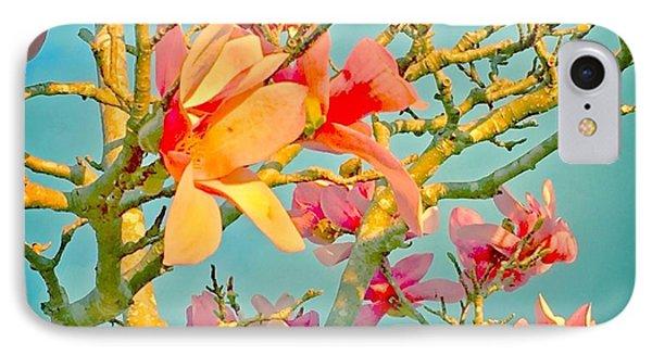 Saucer Magnolia IPhone Case by Angela Annas
