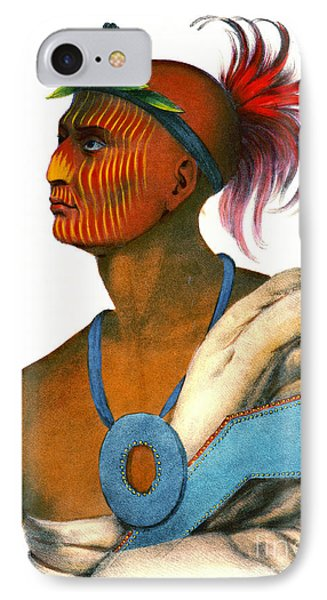 IPhone Case featuring the photograph Sauk Warrior 1842 by Padre Art