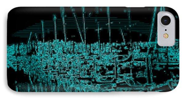 Sausalito Harbor Digitalized IPhone Case by Rich Bertolina