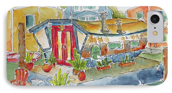 Sausalito Houseboat IPhone Case by Pat Katz