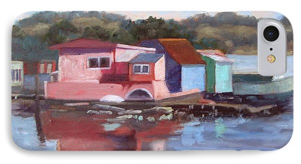 Sausalito Houseboats IPhone Case by Deborah Cushman