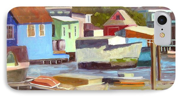 Sausalito Houseboats No 2 IPhone Case by Deborah Cushman