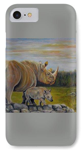 Savanna Overlook, Rhinoceros  IPhone Case