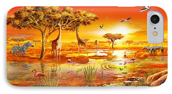 Savanna Sundown IPhone Case by Adrian Chesterman