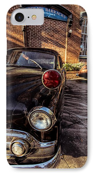 Savannah Antique Police Car IPhone Case by Kim Hojnacki
