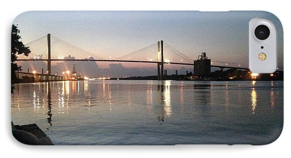 Savannah Bridge Evening  IPhone Case