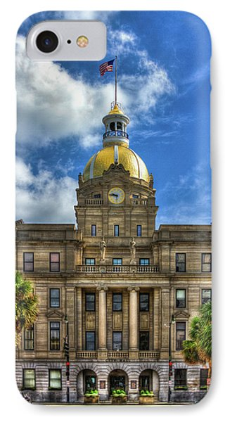 Savannah City Hall Savannah Georgia Art IPhone Case