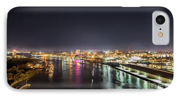 Savannah Georgia Skyline IPhone Case by Robert Loe