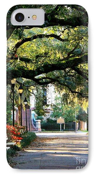 Savannah Park Sidewalk Phone Case by Carol Groenen