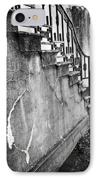 Savannah Stairway Black And White IPhone Case by Renee Sullivan