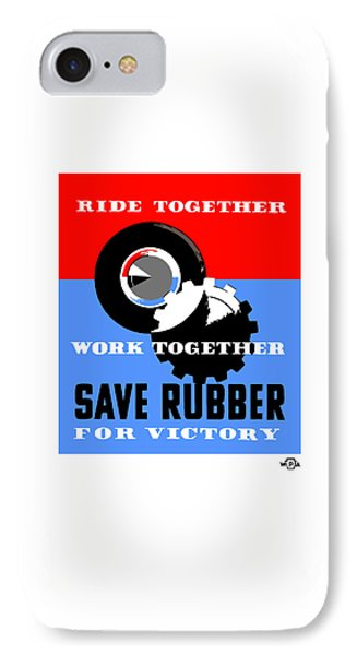 Save Rubber For Victory - Wpa IPhone Case