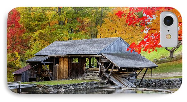 Sawmill Reflection, Autumn In New Hampshire IPhone Case by Betty Denise