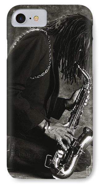 Sax Player 1 Phone Case by Tony Cordoza
