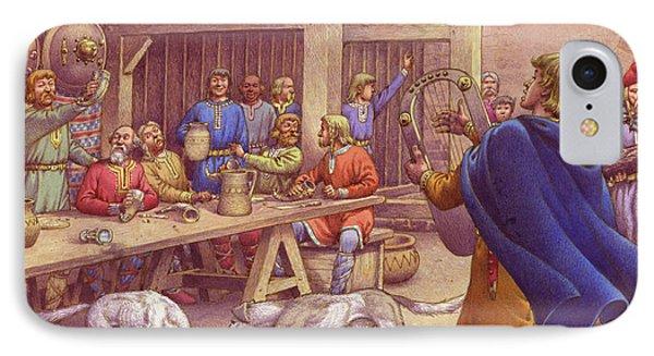 Saxons Carousing  IPhone Case by Pat Nicolle