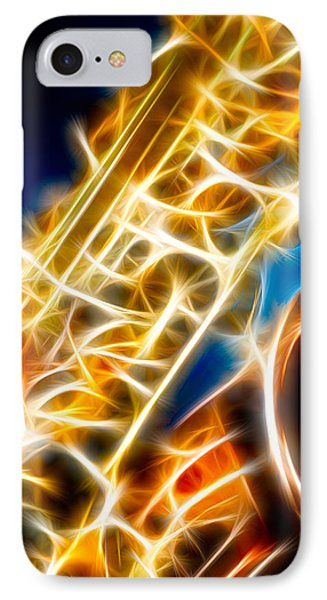 Saxophone 2 Phone Case by Hakon Soreide