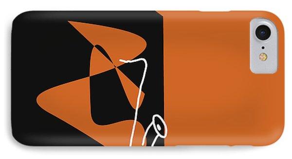 Saxophone In Orange IPhone Case