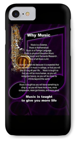 Saxophone Photograph Why Music For T-shirts Posters 4819.02 IPhone Case