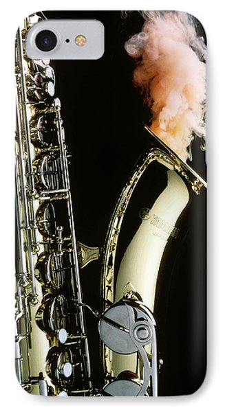 Saxophone With Smoke Phone Case by Garry Gay