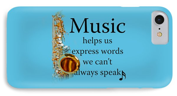 Saxophones Express Words IPhone Case by M K  Miller
