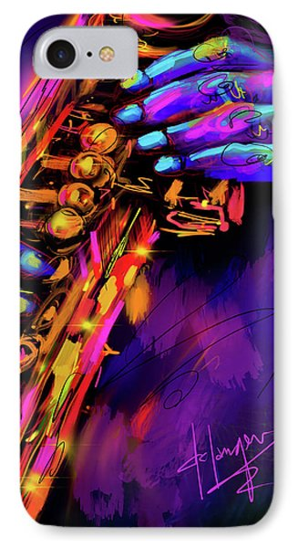 Saxy Hands IPhone Case by DC Langer