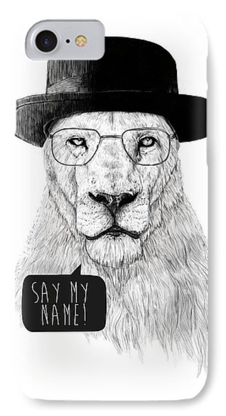 Lion iPhone 7 Case - Say My Name by Balazs Solti