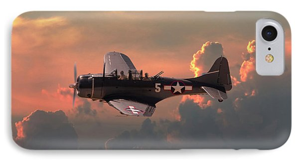 IPhone Case featuring the digital art  Sbd - Dauntless by Pat Speirs