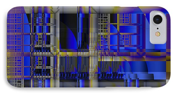 IPhone Case featuring the digital art Scaffold II by Richard Ortolano
