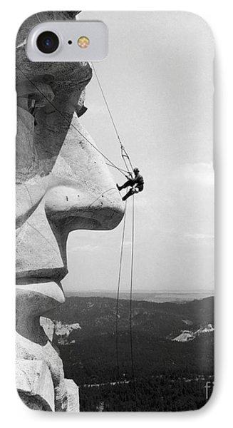 Scaling Mount Rushmore Phone Case by Granger