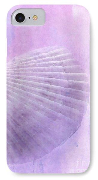 Scallop Sea Shell In Purple Phone Case by Betty LaRue