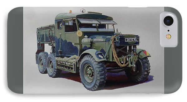 IPhone Case featuring the painting Scammell Pioneer Wrecker. by Mike  Jeffries