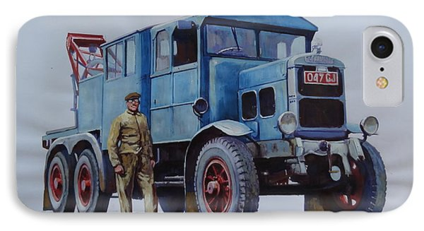 IPhone Case featuring the painting Scammell Wrecker. by Mike Jeffries