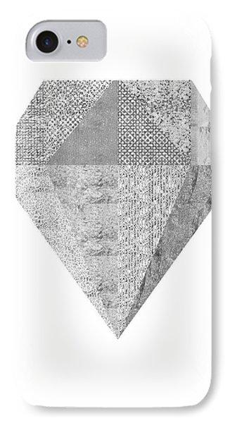 Scandinavian Silver Diamond IPhone Case by Ugur Sarac