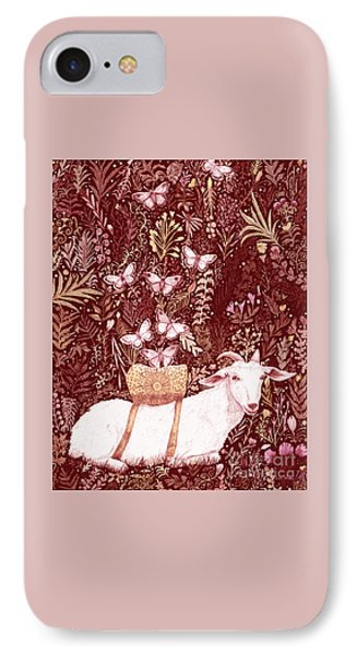 IPhone Case featuring the digital art Scapegoat Healing Tapestry Print by Lise Winne