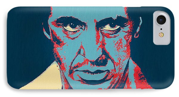 Scarface Pop Art IPhone Case by Dan Sproul